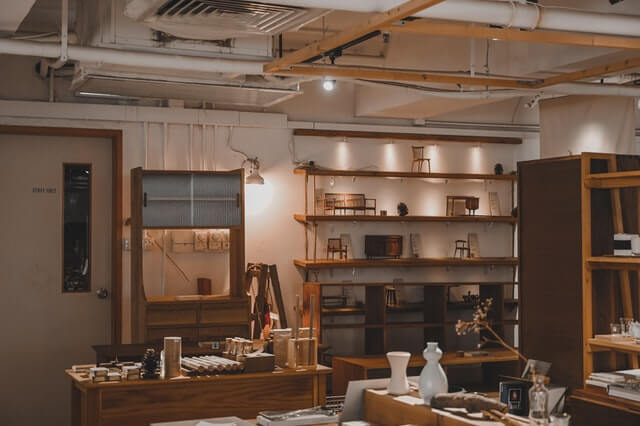 Aménagement d'un atelier vintage