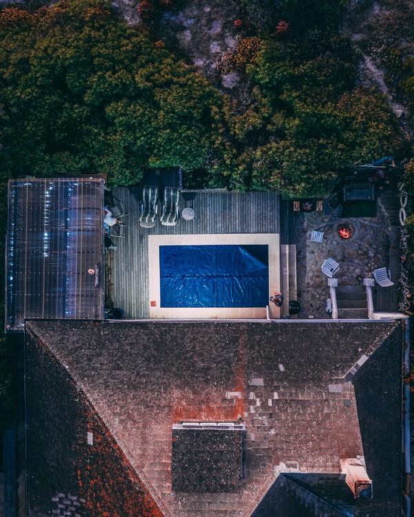 piscine sur une terrasse