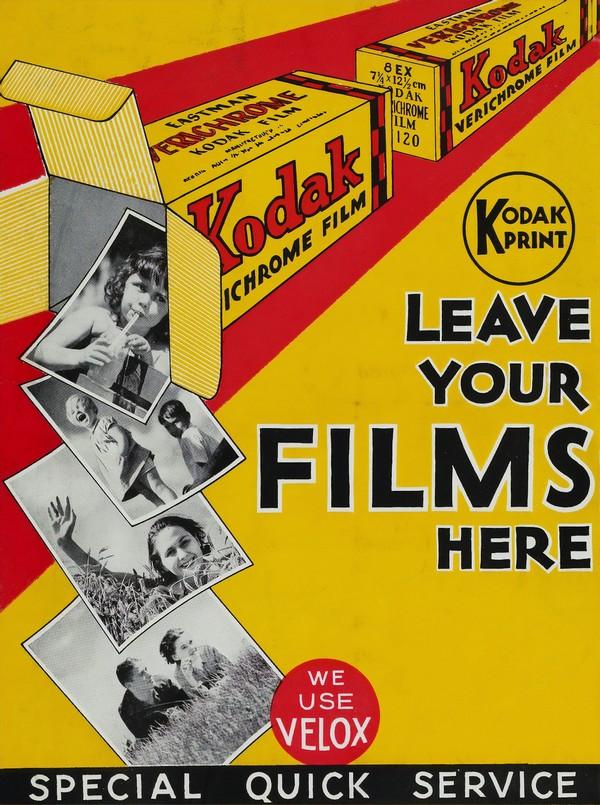 affiche vintage kodak