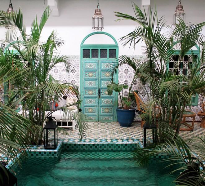 piscine située dans une cour avec de la végétation